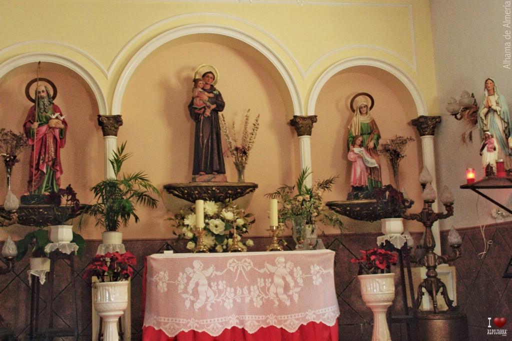 Interior de la ermita de San Antonio